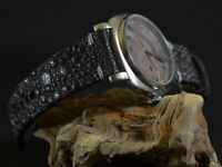 MA WATCH STRAP 26 24 22 MM GENUINE TOAD SKIN BLACK ANTHRACITE FOR PANERAI ETC