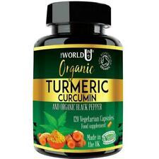 Ultra Pure Organic Turmeric Curcumin 4 Months Supply 120 Capsules Black Pepper