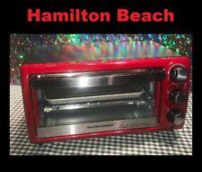 Hamilton Beach Red Toaster/Broiler Oven #31146 1100 Watt 4-slice Stainless Steel