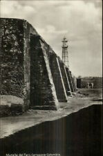 Cartagena Colombia Muralla del Faro Lighthouse c1915 Real Photo Postcard
