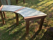 Oak Garden Furniture Modern Curved Bench (7)