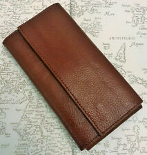 More details for 3 x pen leather flap case by the northumbrian pen co