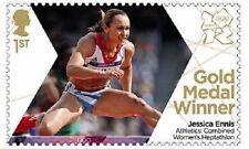 UK Team GB Gold Medal Winner Single Stamp - Jessica Ennis MNH 2012