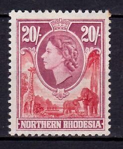 Northern Rhodesia-1953 QEII Set  20/- Value, SG 74.MM.