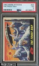 1962 Mars Attacks #23 The Frost Ray PSA 3 VG