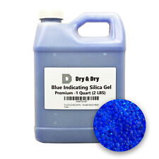 1 Quart Premium Blue Indicating Silica Gel Desiccant Beads(2 LBS) - Rechargeable