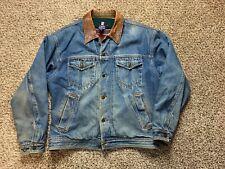 Chaps Ralph Lauren Blanket Lined Denim Jacket Vintage Mens Size Medium