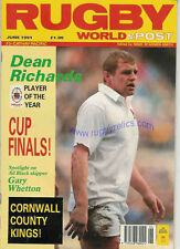 RUGBY WORLD MAG JUNE 1991 - CORNWALL, HARLEQUINS, TONDU, LLANELLI, WOMEN'S RWC
