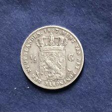 Niederlande 1/2 Gulden Silber Wilhelm III. 1857