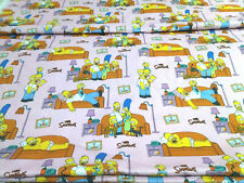 The Simpsons Cotton Fabric Fat Quarter or Metre (Brand New)