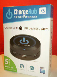 CHARGEHUB X5 USB SUPERCHARGER CHARGE UP TO 5 USB DEVICES! MAXSTRA NIB Unopened