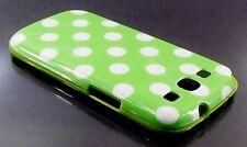 Samsung Galaxy S3 i9300 verde con puntini bianchi pelle caso coprire MACCHIE Polka