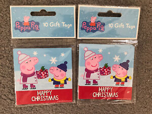 PEPPA PIG ~ Christmas Gift Tags x 20 ~ Very Cute