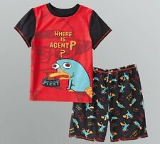 Phineas and Ferb PERRY Boy's 4/5 Spring Pajamas NeW Red Shirt Shorts Pjs Set NWT