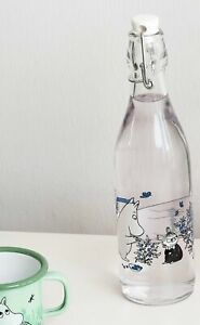 MOOMIN Muurla glass bottle with metal clasp 0.5l BLUEBERRIES
