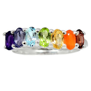 Healing Chakra 925 Sterling Silver Ring Jewelry s.6 BR94863
