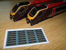 Destination displays for Bachmann Class 220 221 Voyager DMU Cross Country trains