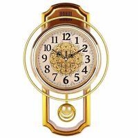 Pendulum Clock Wall Home Decoration Silent Vintage Style Watch Quartz Clocks New