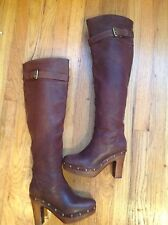 Michael Kors Women Beautiful And Elegant  Long Brown Leather Boots Size 6.5