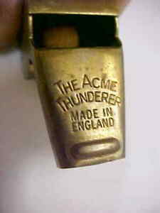 """"""" THE ACME THUNDERER- MADE IN ENGLAND """" BRASS WHISTLE"""