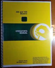 John Deere 350 450 S/N -800000 Mower Owner Operator's Manual OM-E58660 L7 12/77