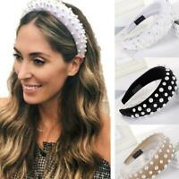 Women's Girl Hairband Padded Sponge Headband Crystal-Hair Hoop Headwear-