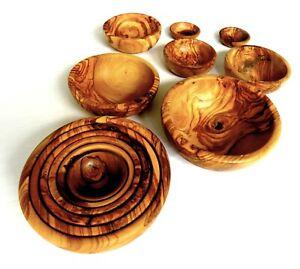 Olivenholz Schalen Schälchen Holzschale Holzschälchen geölt Servierschale rund