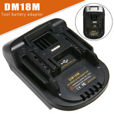 DM18M Battery Adapter Convert for Milwaukee Li-ion Battey to Makita 18V BL1830
