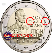 2 Euro Commémorative Luxembourg 2018 BE - 150 Ans Constitution Pont et Lion