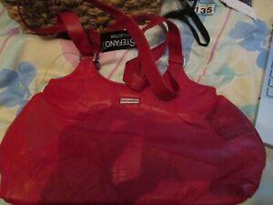 STEFANO  Red Bag Leather Handbag /Shoulder Bag BNWT