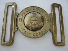 Royal Canadian Army Pay Corps Brass Belt Buckle