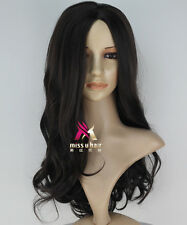 Dark Brown Long Wavy The Hunger Games Katniss Everdeen Cosplay Party Wig Hair