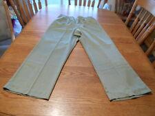 Alfred Dunner 100% Polyester Moss Green Women's Pants size 16
