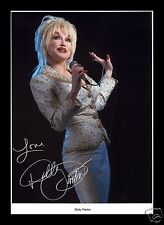DOLLY PARTON AUTOGRAPHED SIGNED AND FRAMED PP PHOTO POSTER