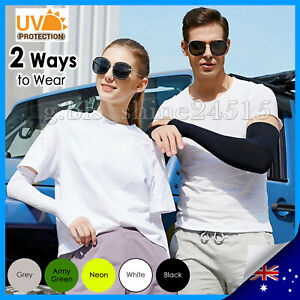 UV Protection Cooling Arm Stretch Sleeves Sport Outdoor Sun Block Cover Golf