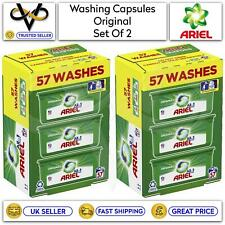 More details for ariel 3 in 1 pods original washing capsules washing laundry 2 x 57 pack washes