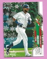 2020 Topps Holiday Will Castro RC HW55 Detroit Tigers