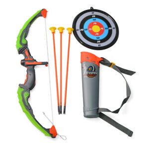 Kids Light Up Archery Set Bow Suction Arrows Quiver Game Gift Outdoor Target