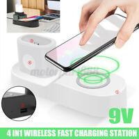 4 in 1 Qi Fast Wireless Charging Station Charger Pad For iWatch For Airpod