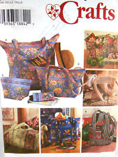 Simplicity Crafts Pattern 7098 Quilted Bags & Eyeglasses case Uncut Factory Fold
