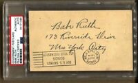 Babe Ruth Signed Autographed GPC Government Postcard Document 1938 PSA/DNA