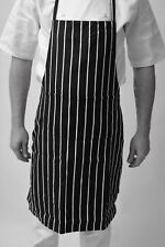 Black And White Butchers Bib Apron Catering Cooking Professional Chef Aprons