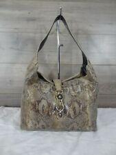 Dooney & Bourke Python Embossed Shoulder Bag Hobo Tote Handbag Satchel