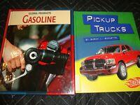 Lot (2)  'Pick Up Trucks' + 'Gasoline'  Homeschooling Books  Ex-Library   K6