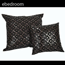 Classic Double Circle Cushion Cover 45x45cm in Coffee 10751
