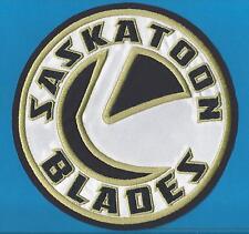 Saskatoon Blades WHL CHL Hockey CCM / Maska Iron On Large Jersey Crest Patch A
