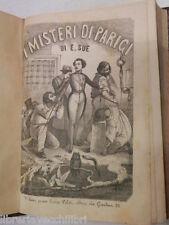 I MISTERI DI PARIGI Vol II Eugenio Sue Libreria di Dante Alighieri 1868 romanzo