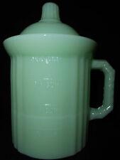 Jadeite jadite green Glass measuring jar cup jade milk tub opaque / coffee sugar