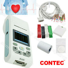 Touch 1 channel 12 lead ECG Machine Handheld Portable Electrocardiograph PC SW