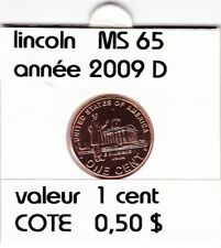 e2 )pieces de 1 cent  2009  D  lincoln ( professional life  )